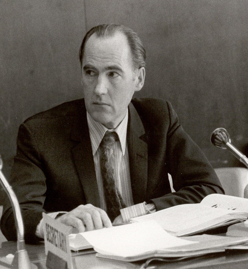 David Sowby at a Main Commission meeting in Geneva 1974